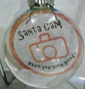 Santa Cam Floating Ornament