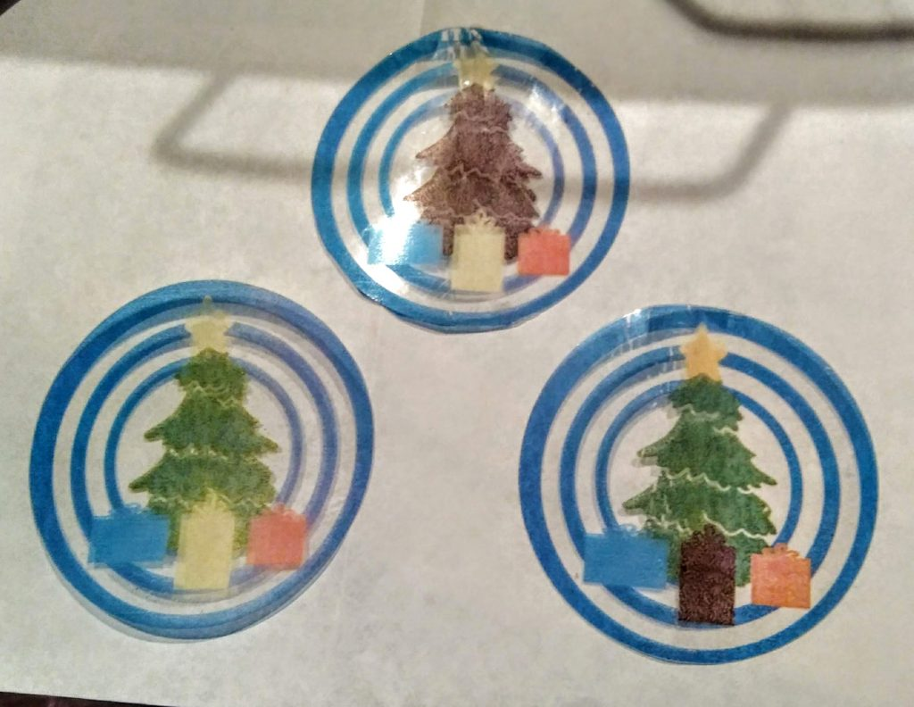 Color trials for the tree ornament