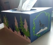 Winter Scene Tissue Box Side 2