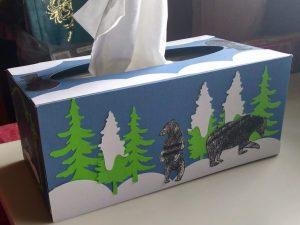 Winter Scene Tissue Box Side 1