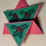Christmas Star Fold card Closed