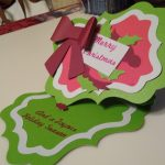 Twisted Easel Christmas Card open