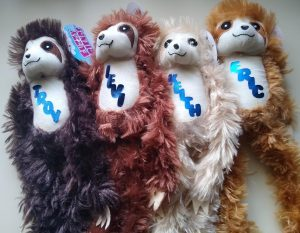 Making Personalized gifts - Stuffed Monkeys