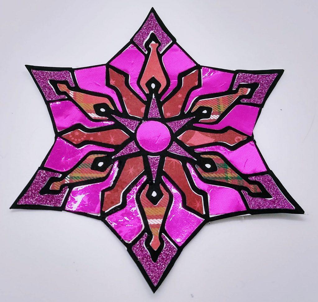 Pink Snowflake 2