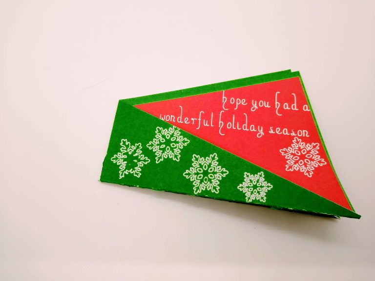 Front of Christmas Thank you card