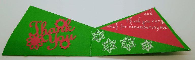 Open Christmas Thank You Card