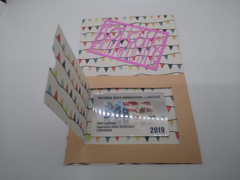 Gift Card under the perforation