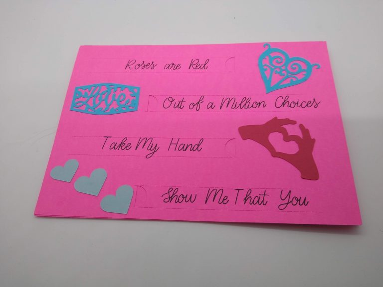 Front of Perforation Valentines Card