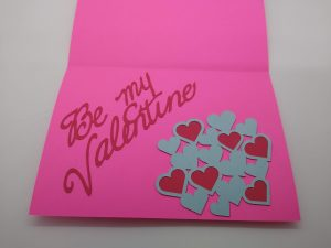 Perforation Valentines Card open