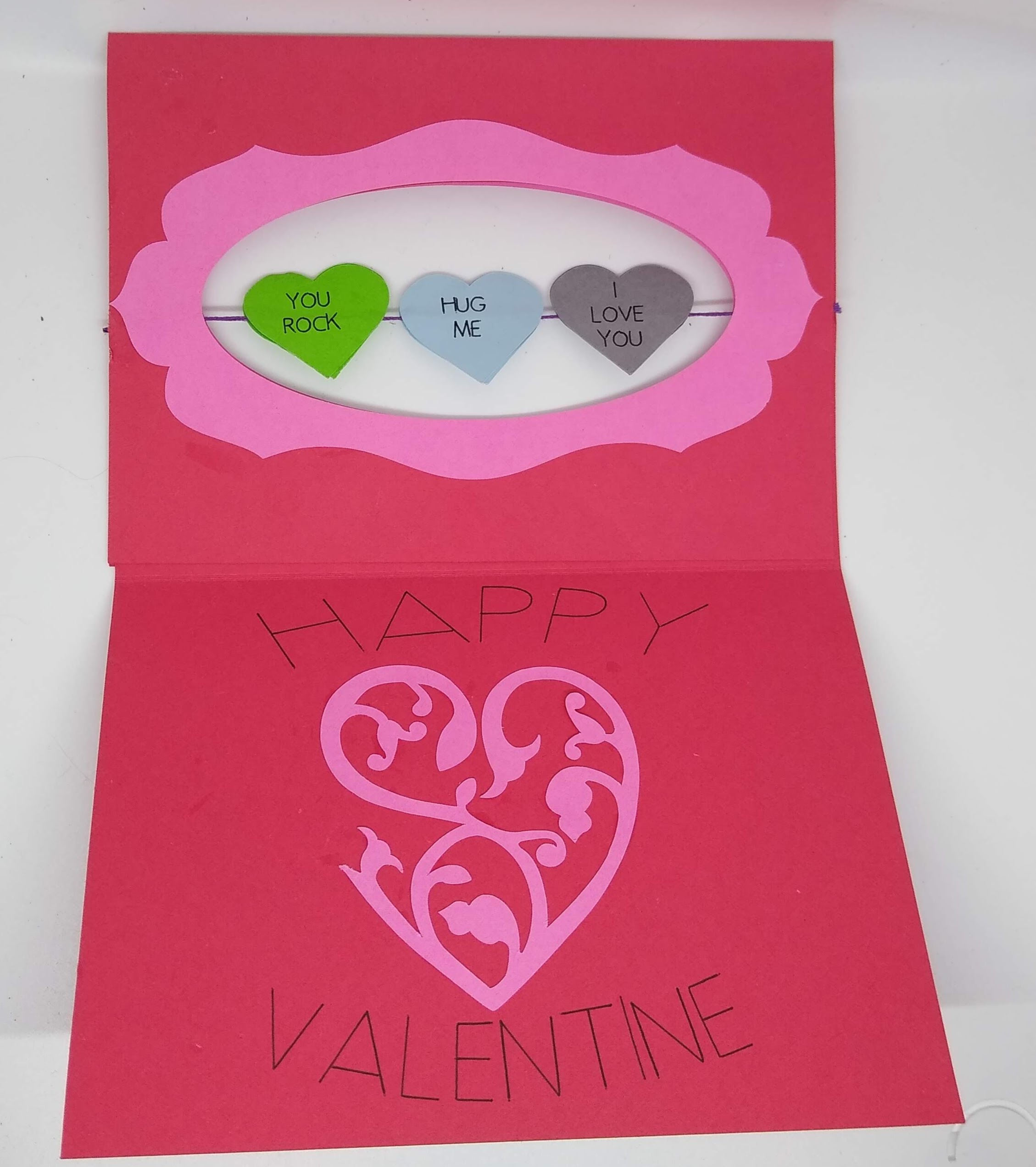 Candy Hearts Twirl Card