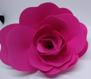 Front view of Large Paper Rose