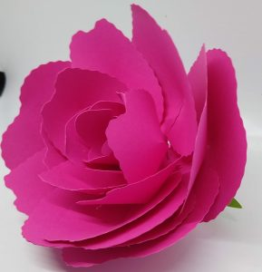 Wavy Blade Large Paper Rose