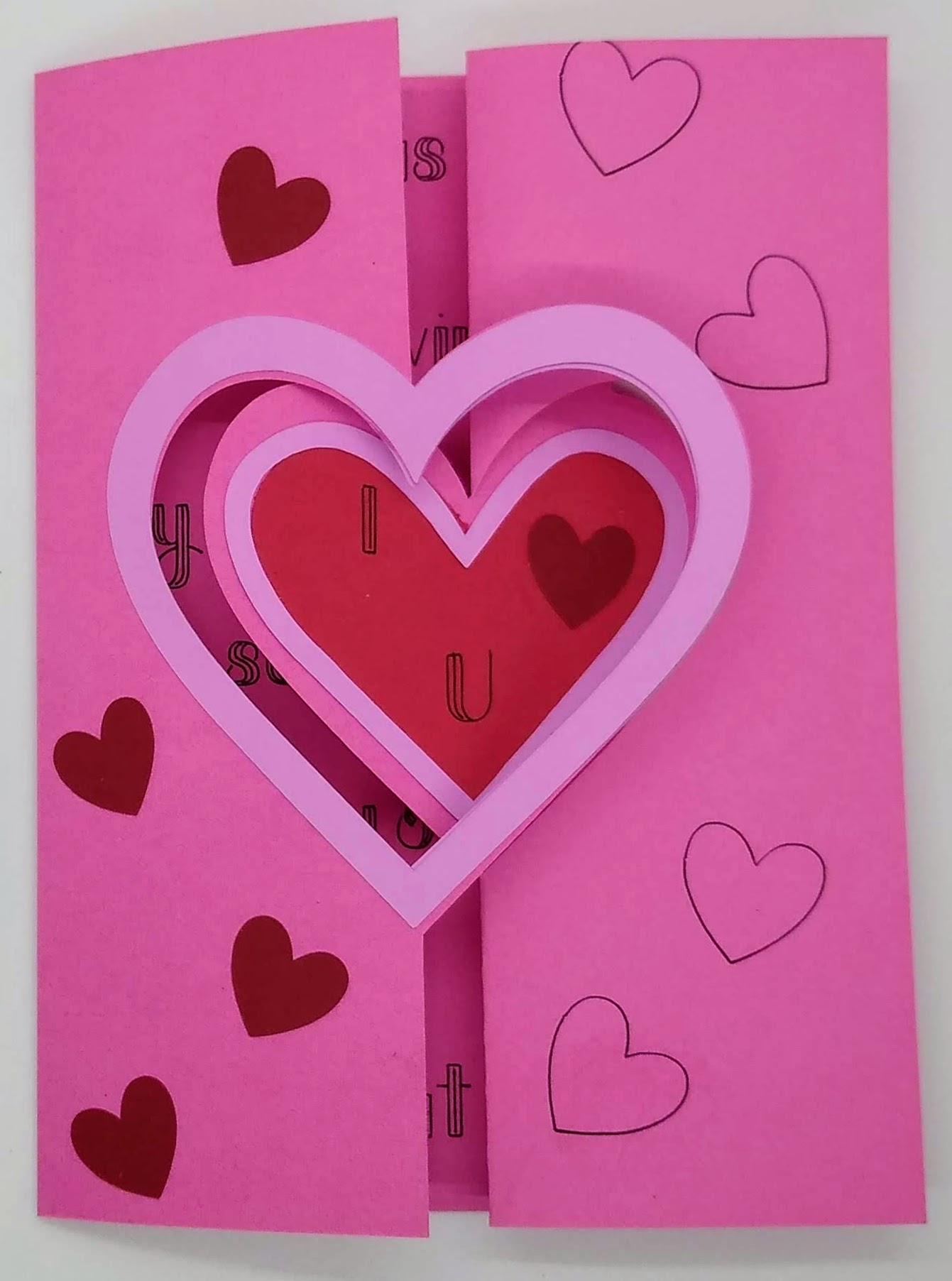 Heart Flip Card For Your Sweetie