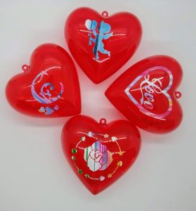 4 Medium Heart Treat Boxes