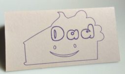 Dad Place Card for kids to color