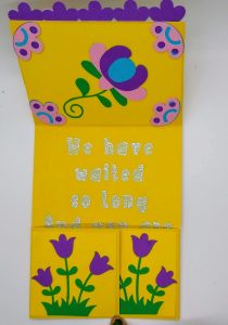 Spring Dutch Door Card Top open