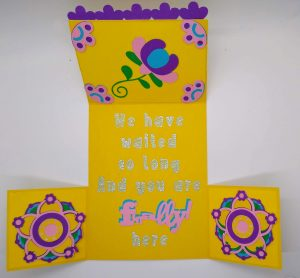 Spring Dutch Door Card all the way open