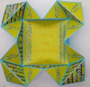 Incire Napkin Fold Card partially open