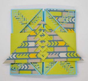 Incire Napkin Fold Card with Card Band