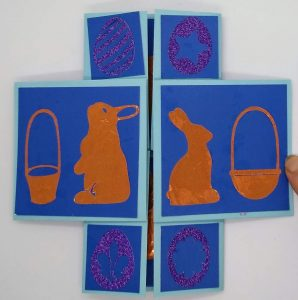 The Cross fold view of the Easter Infinity Card