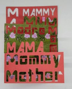 Mother's Day Cot out card in floral and red