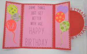 Open Happy Birthday Circle Card