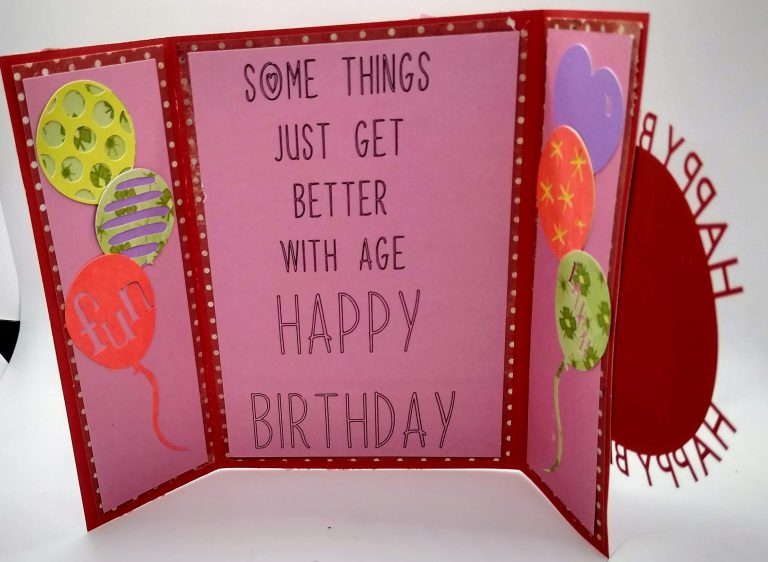 Standing Happy Birthday Circle Card