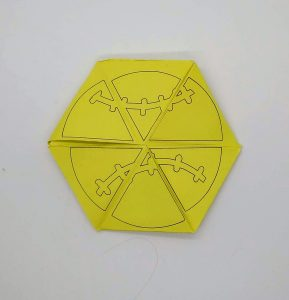 Side 3 of toy from sports toy Make a Triflexahexagon