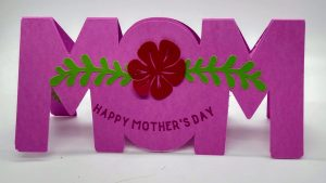 WOW MOM Mothers day card standing