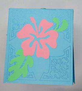 Spring tissue box cover flower side