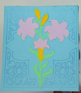 Spring tissue box cover Lily side