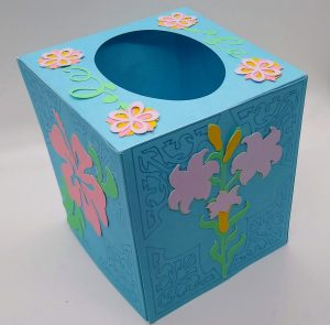 Spring tissue box cover another side