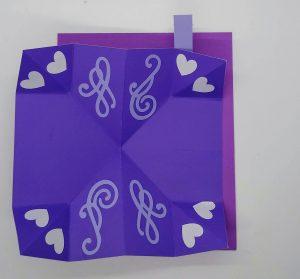 Napkin Fold Complex Dynamic Page in purple