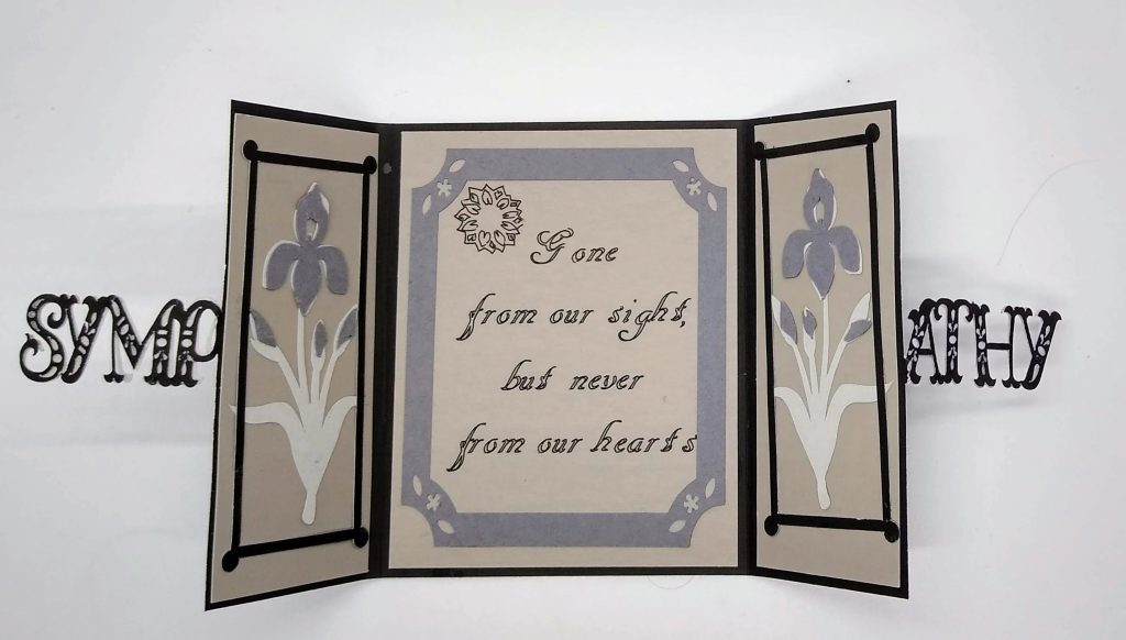 Open Gatefold Cut out Sympathy Card