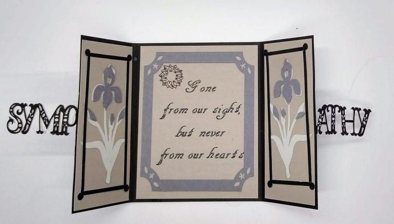 Open Gatefold Cut out Sympathy Card