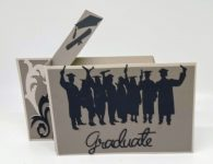 Graduation wiper card open