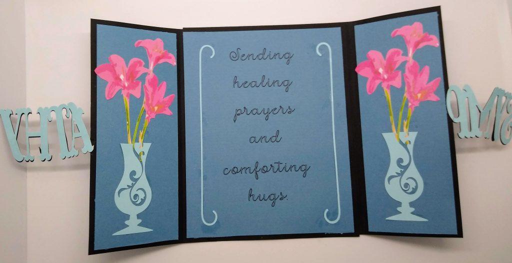 Gatefold Cut out Sympathy Card