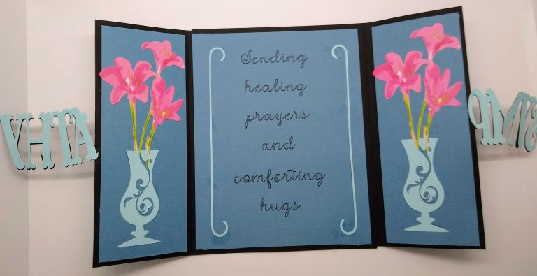 Gatefold Cut out Sympathy Card