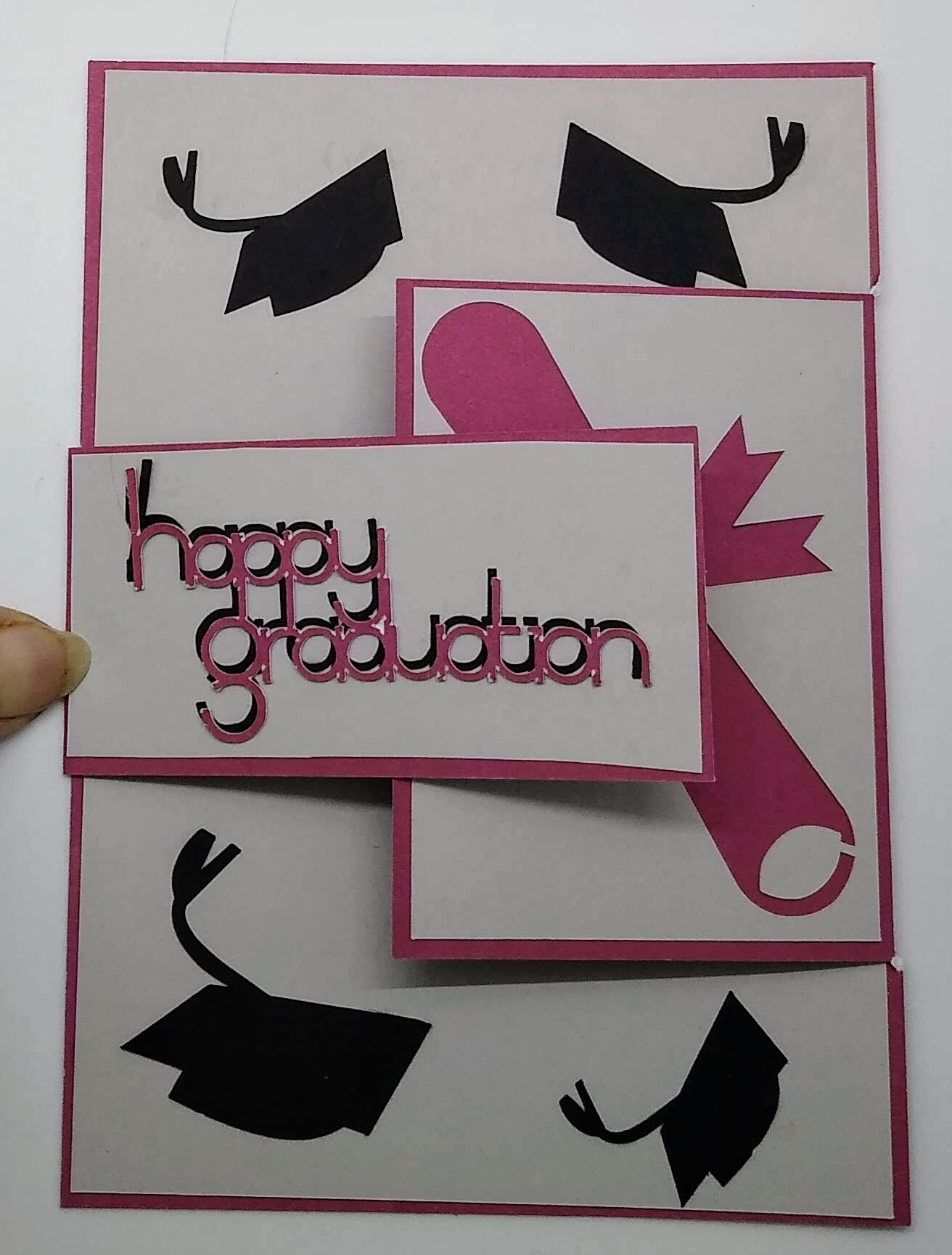 Altered Gatefold Graduation Card