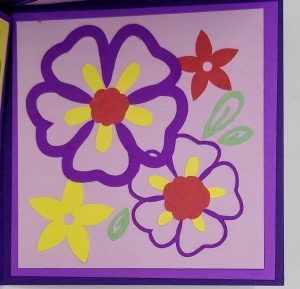 Flower panel of Get well Triangle Pop Out Card