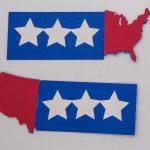 US Map patriotic card band pieces