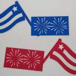 Flag patriotic card band pieces