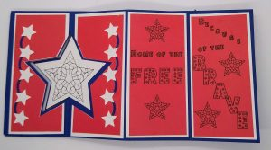 Home of the Free Because of the brave 4th of July Card in red white and blue