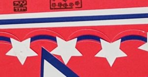Some detail on Home of the Free Because of the brave 4th of July Card in red white and blue