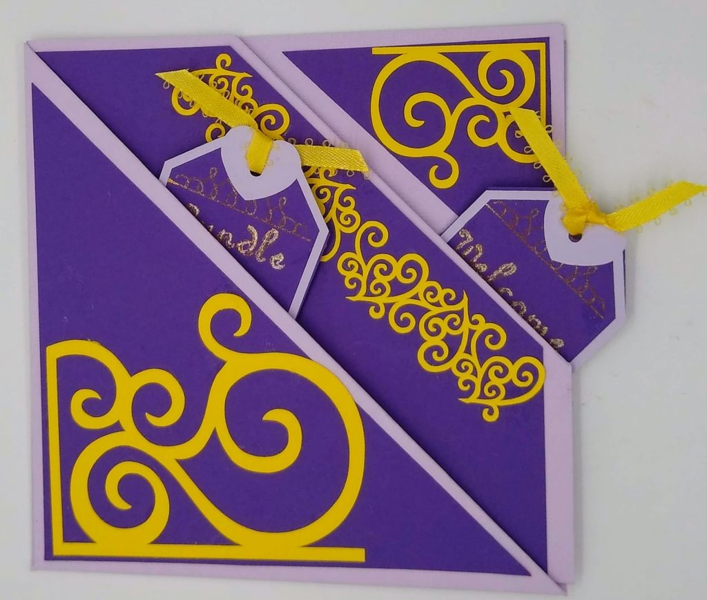 Front of two pocket baby card