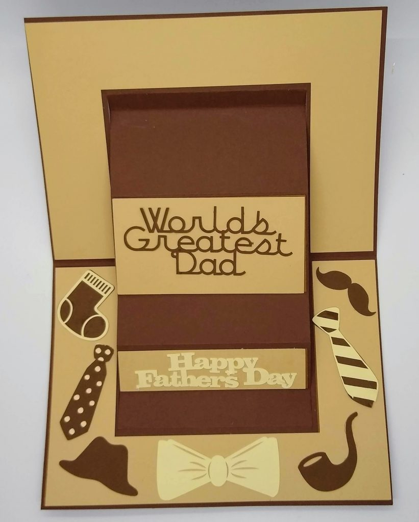 Flattened World's Greatest Dad Card