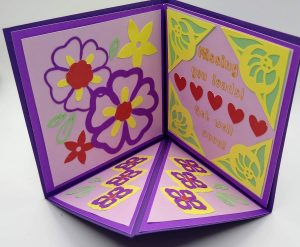 Open Get well Triangle Pop Out Card