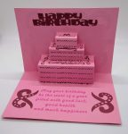 Pop Out Birthday Cake Card