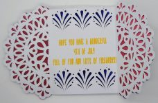 4th of july red,white and blue gatefold card
