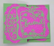 Friendship card with embossing